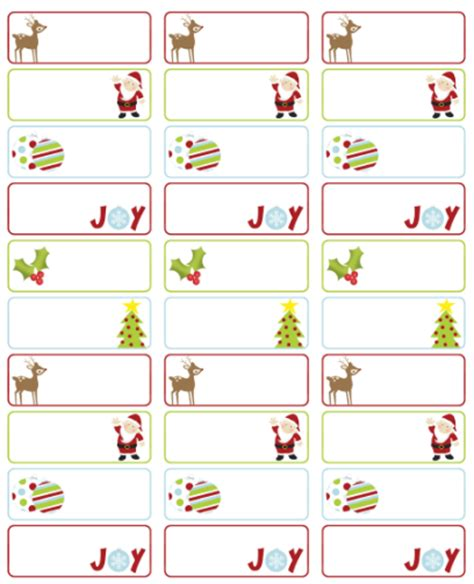 christmas templates for address labels address labels free address label templates on pinterest