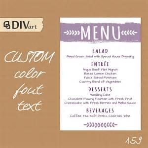 menu ideas for wedding rehearsal dinner printable wedding menu rehearsal dinner menu reception by divart