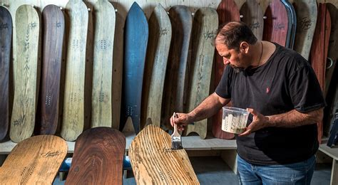 Handmade Snowboards - shapes finely crafted snowboards