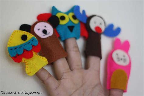 Handmade Finger Puppets - ideku handmade animal finger puppet