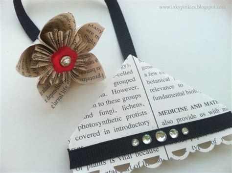 Origami Flower Bookmark - corner bookmarks with origami fold by gidgetmd at