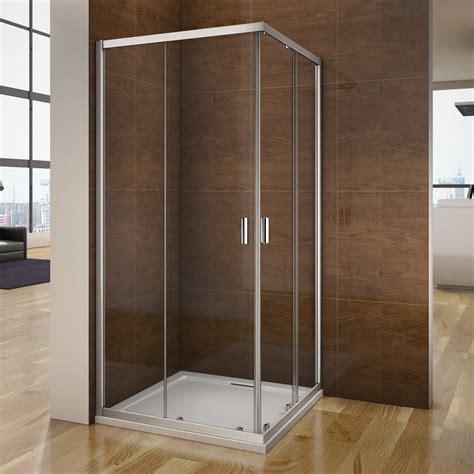 Corner Entry Shower Doors Quadrant Sliding Corner Entry Walk In Shower Enclosure Glass Door Screen Cubicle