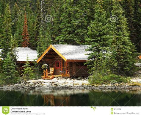Cabins Bc by Wooden Cabins At Lake O Hara Yoho National Park Canada Stock Photo Image 37172356