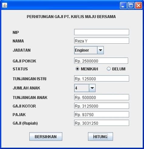 swing programs in java program java swing jcombobox dan jradiobutton berbagi
