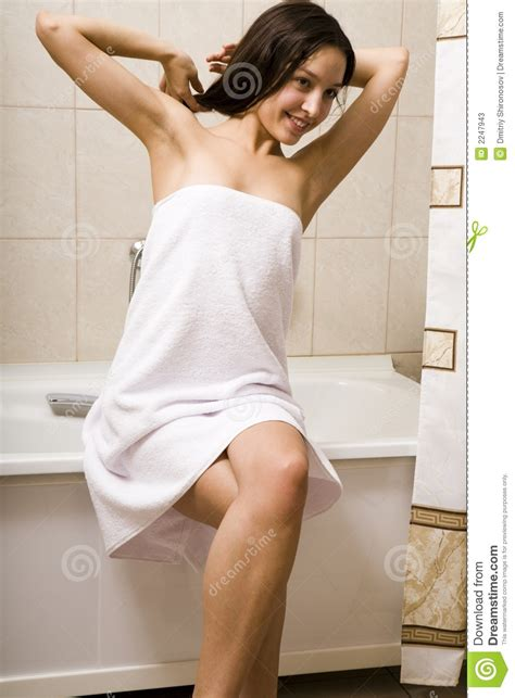 taking bath after c section after taking a shower stock image image of health bench
