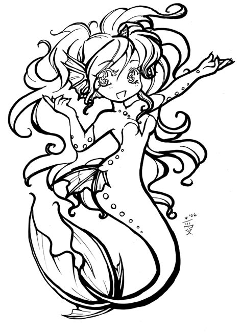 chibi mermaid lineart by kaitoucoon on deviantart chibi mermaid by aichan25 on deviantart