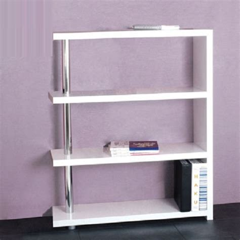 Roda 4 Tier Bookcase In White High Gloss 6657 Furniture In White High Gloss Bookcase