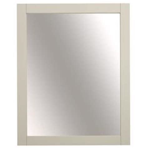 shop allen roth cary 32 in h x 26 in w warm brown shop framed bathroom mirrors at lowes com