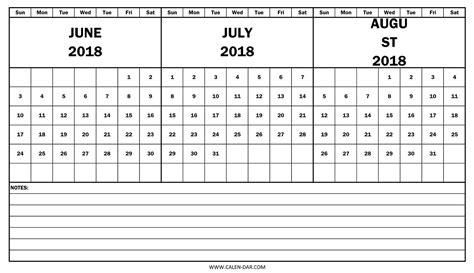 printable calendar june july 2018 june july august 2018 calendar printable journalingsage com