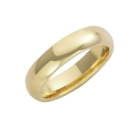 18ct yellow gold court wedding rings 6 mm 18ct yellow