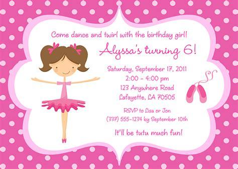 templates for ballerina invitations ballerina birthday invitations ideas bagvania free