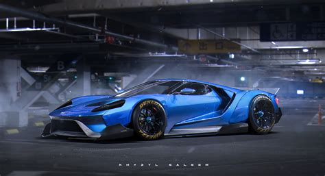 widebody cars 2017 ford gt quot egoista quot rendering has liberty walk widebody