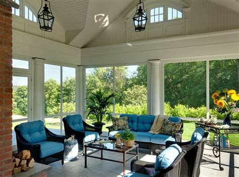 Screen Porch Windows Decor Connecticut Estate Traditional Porch New York By Crisp Architects