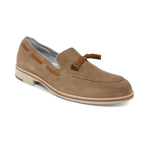 johnston and murphy loafers johnston murphy ellington tassel loafers in beige for