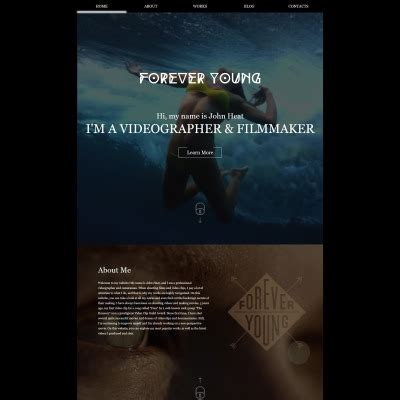 website templates for videographers videographer templates templatemonster