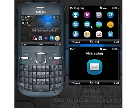 nokia c3 london themes mobile phones nokia c3 theme anna