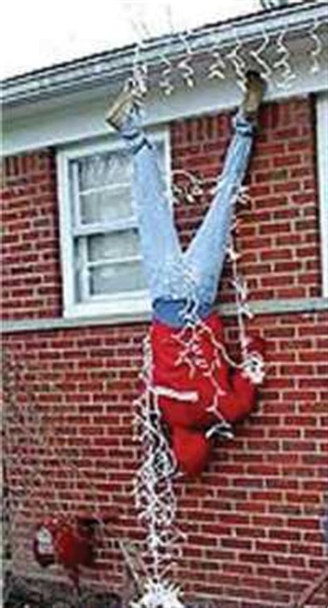 how to hang christmas lights on house do it yourself humor the danger of hanging christmas lights on your house