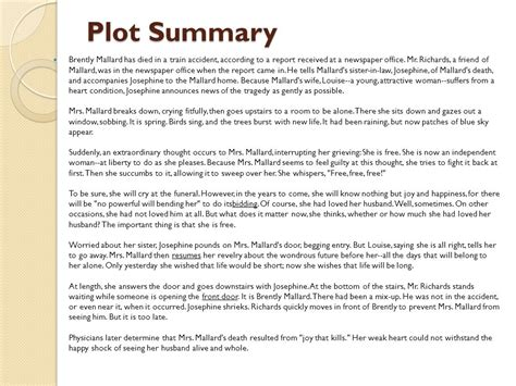 new year story summary a story of an hour by kate chopin 1894 ppt