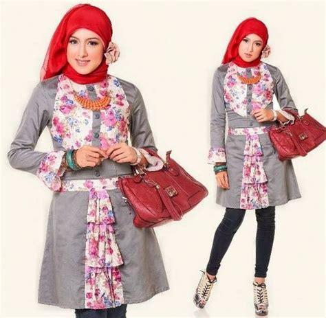 Setelan Gamis Syari Dewasa Butterfly Syari 7 15 koleksi desain baju atasan muslim wanita terbaru 2017