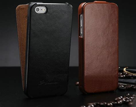 Iphone 5 5g 5s Leather Cover Retro Soft Bumper Armor Mewah vintage iphone 5 5g 5s genuine leather flip phone cover