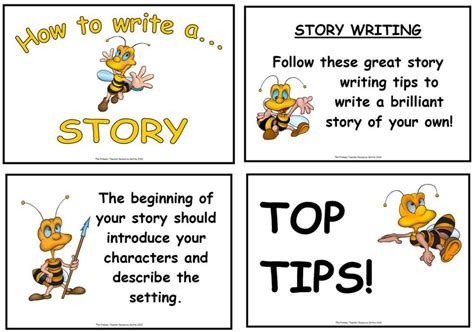 how to write a story book with pictures story writing display poster pack