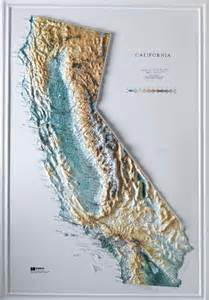 topo map california raised relief maps 3d topographic map us state series