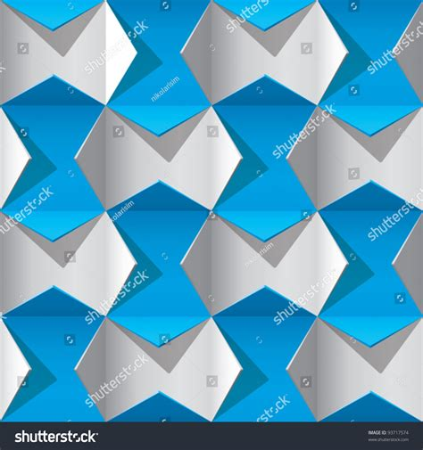 origami pattern vector origami 3d pattern continuous stock vector illustration