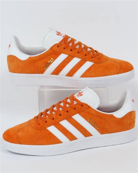 Adidas Gazel Navy In Orange adidas gazelle trainers orange white suede originals og 80s 90s style