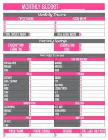 budget template free printable 17 best ideas about monthly budget template on