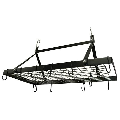 range kleen black enamel pot rack rectangle cw6013 the