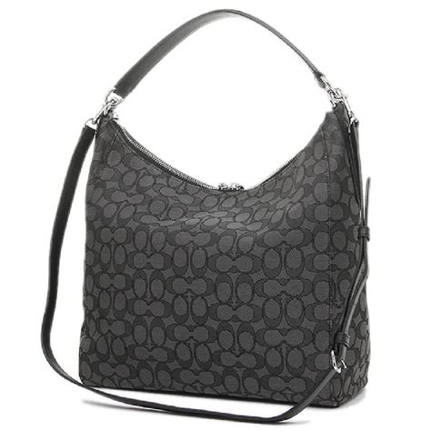 Coach Celeste Hobo Large Sign Black Tas Coach Original coach celeste convertible hobo in outline signature