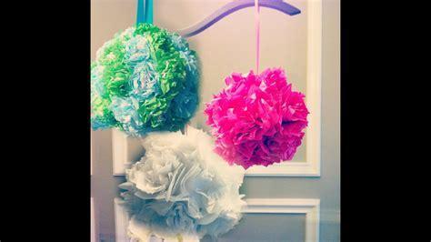 Tissue Paper Pomanders! How to make flower balls! DIY