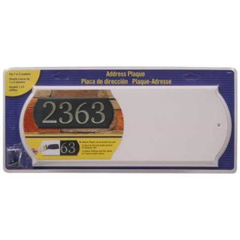 the hillman rectangular white address plaque 848711