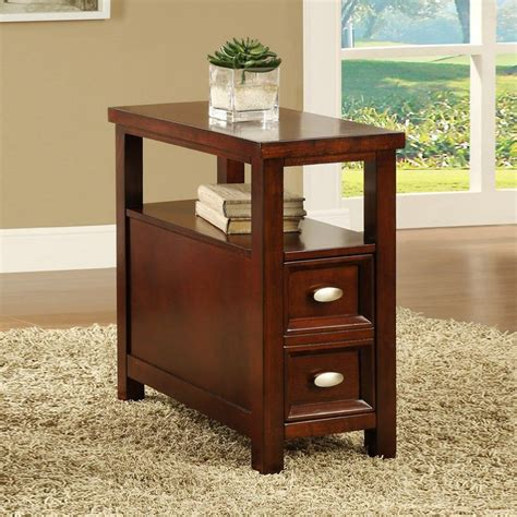 cherry wood accent tables cherry finish wooden end table and drawer