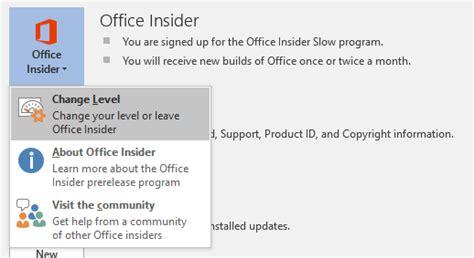 Office Insider How To Enroll For Office Insider Fast Level For Office 2016