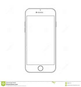 outline drawing smartphone elegant thin line style design