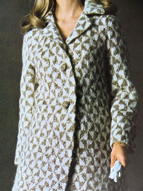 how to knit houndstooth instant pdf pattern 1960s vintage houndstooth coat