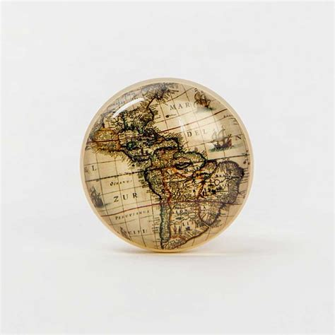 Worlds Knob by World Map Door Knob
