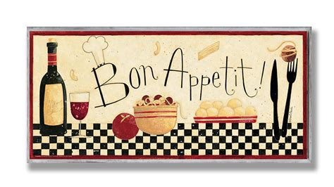 the stupell home decor collection bon appetit kitchen wall