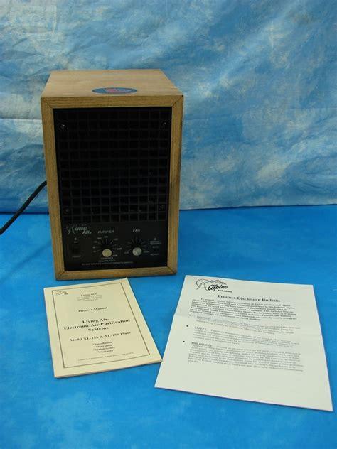 alpine living air model xl 15s ozone generator air purifier usa made w manual ebay