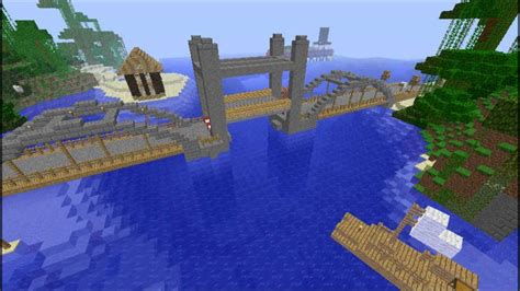 minecraft moving lift bridge 2 youtube - Minecraft Boat Bridge