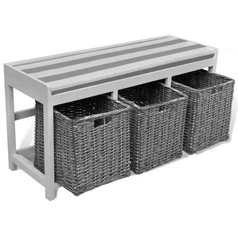 entryway bench with storage baskets cushions white storage entryway bench with cushion top 3 basket