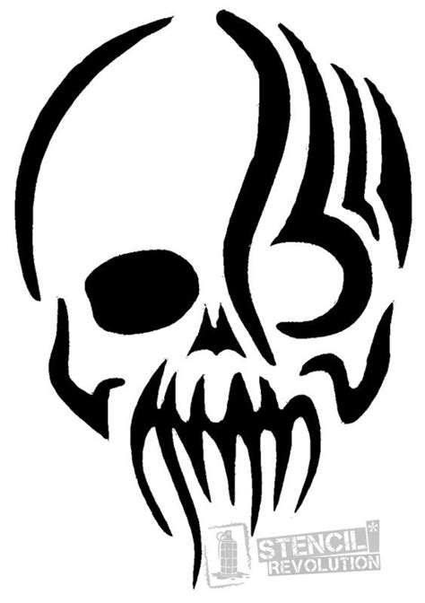zombie stencils  stencil revolution skull stencil