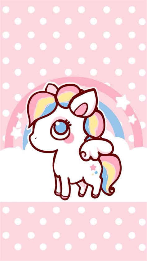 imágenes de unicornios tiernos rainbow pony lock screen phone wallpapers pinterest