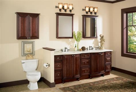bathroom paint colors with cherry cabinets will emphasize