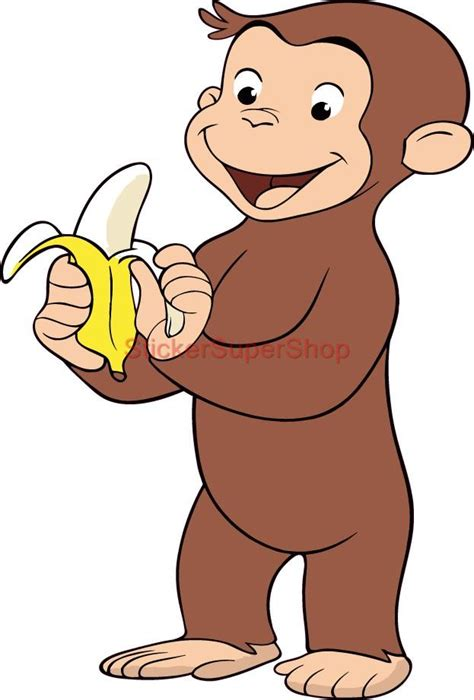 size curious george decal removable wall sticker art decor cartoon vinyl decals ebay
