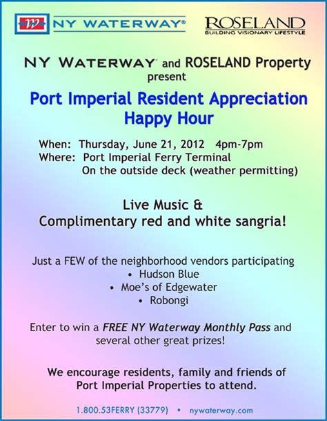 Apartment Resident Appreciation Ideas Port Imperial Resident Appreciation Nywaterway Ny