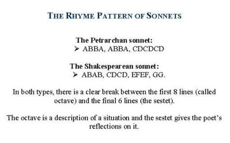 pattern seven poem exles sonnet exles the development of the form of sonnets