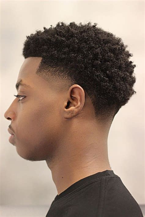 low taper afro black men image gallery temple fade