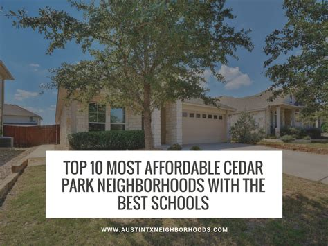 Best And Most Economical Mba In Real Estate by Affordable Cedar Park Neighborhoods With The Best Schools